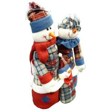 "15"" (367mm) SNOWMAN FAMILY CHRISTMAS DECORATION"